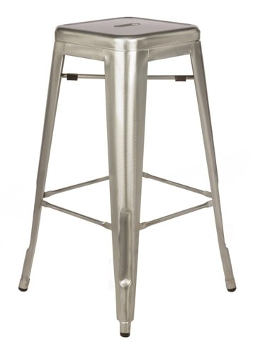 Crosier 30 Metal-Galvanized Bar Stool (Set of 2) by Williston ForgeCrosier 30 Metal-Galvanized Bar Stool (Set of 2) by Williston Forge