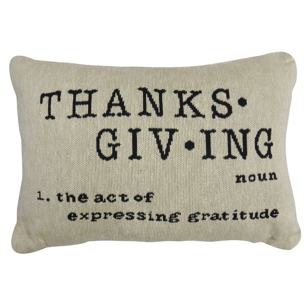 Jameel Thanks Tapestry Lumbar Pillow by Gracie Oaks