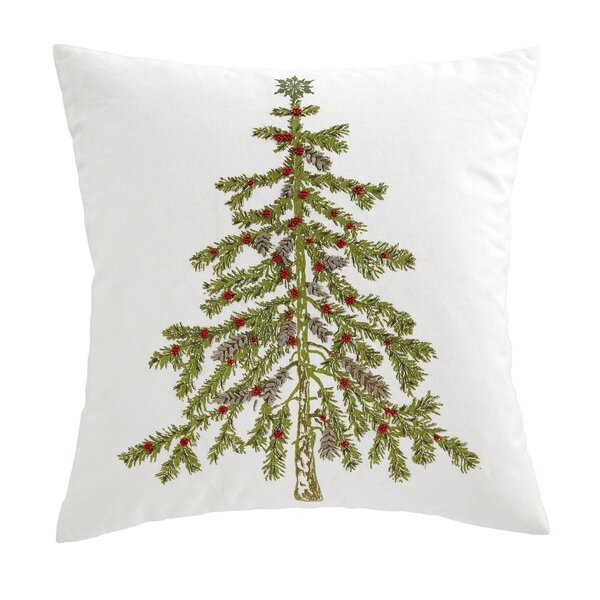 Evergreen Embroidered Pillow Cover by Birch Lane™