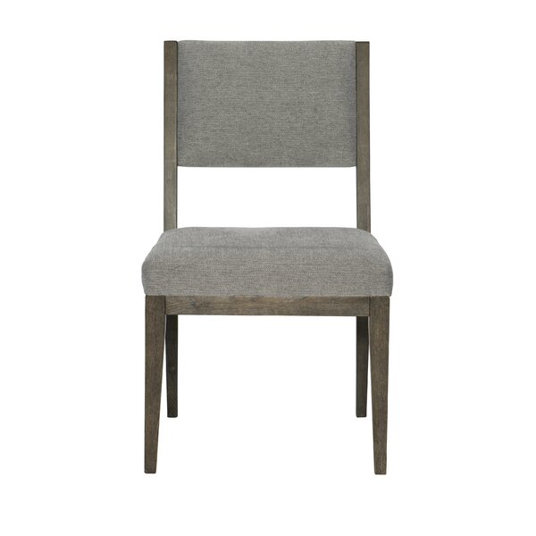 Linea Upholstered Side Chair In Cerused Charcoal By Bernhardt