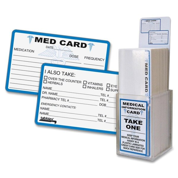 Medical Information Cards by Tabbies