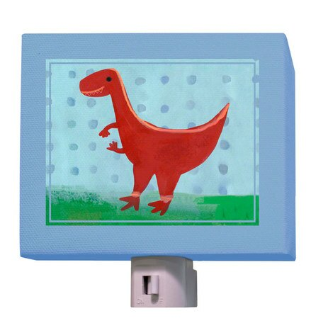 Red Velociraptor Night Light by Oopsy Daisy