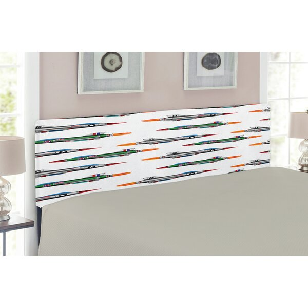 Airplane Upholstered Panel Headboard by East Urban Home