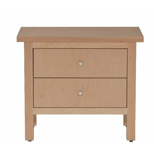 Arwood 2 Drawer Nightstand by Loon Peak