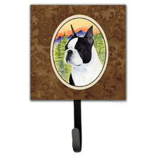 Boston Terrier Leash Holder and Wall Hook by Caroline's Treasures