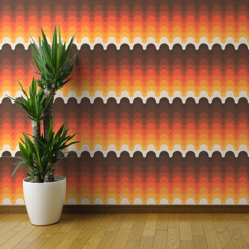 Brenville+Wave+Removable+Wallpaper+Roll