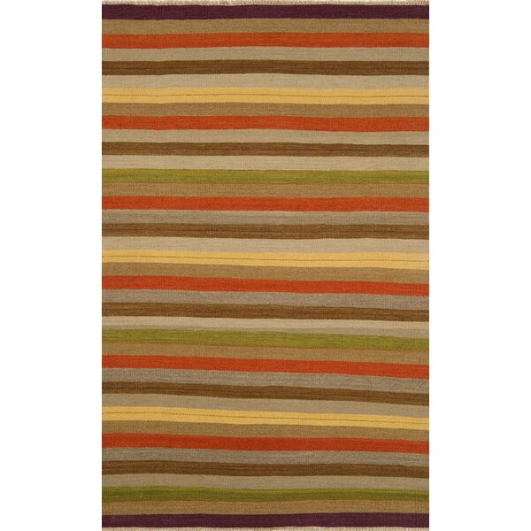 Hand-Knotted Wool Brown Area Rug by Continental Rug Company