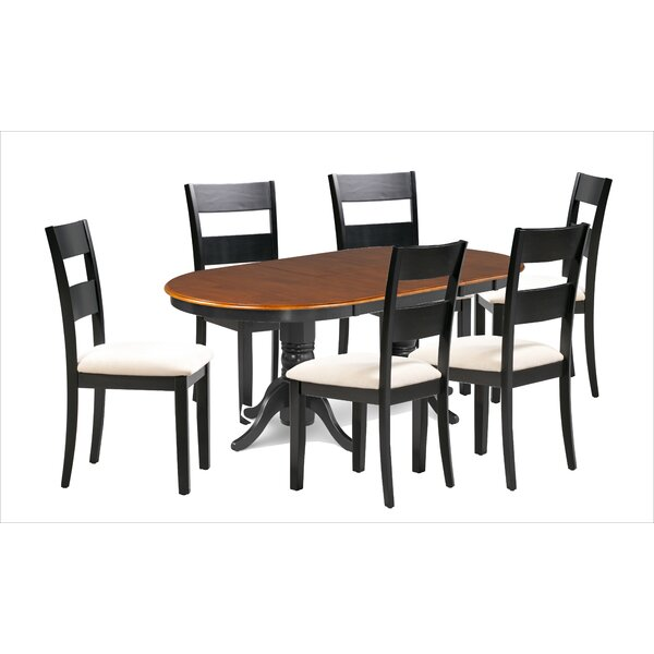 Dhara Fulwego Wooden 7 Piece Extendable Dining Set by August Grove