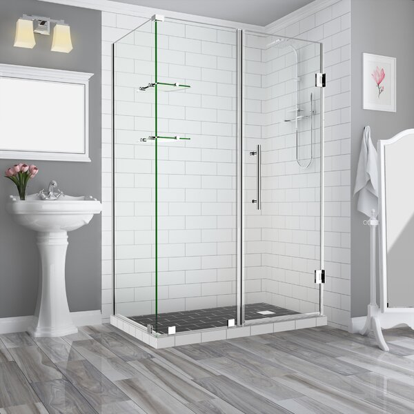 Bromley GS Hinged Semi-Frameless Shower Door by Aston