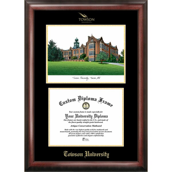 NCAA Gold Embossed Diploma with Campus Images Lithograph Picture Frame by Campus Images
