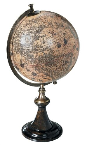 Classic Hondius Globe with Stand by Authentic Models