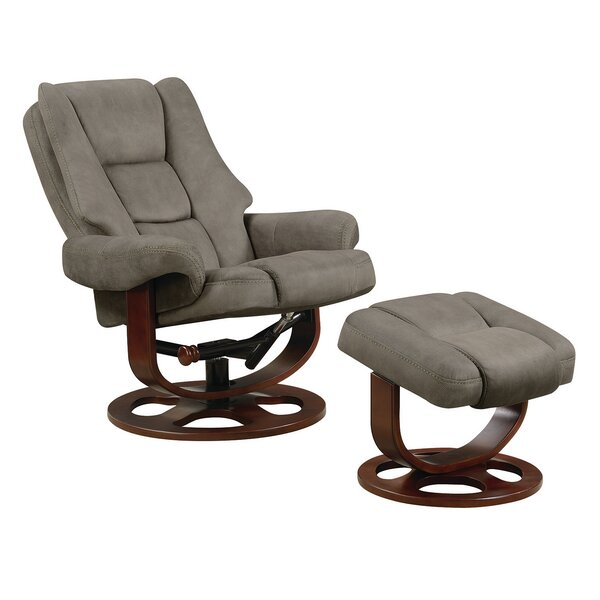 Review Haeli Lounge Swivel Recliner With Ottoman