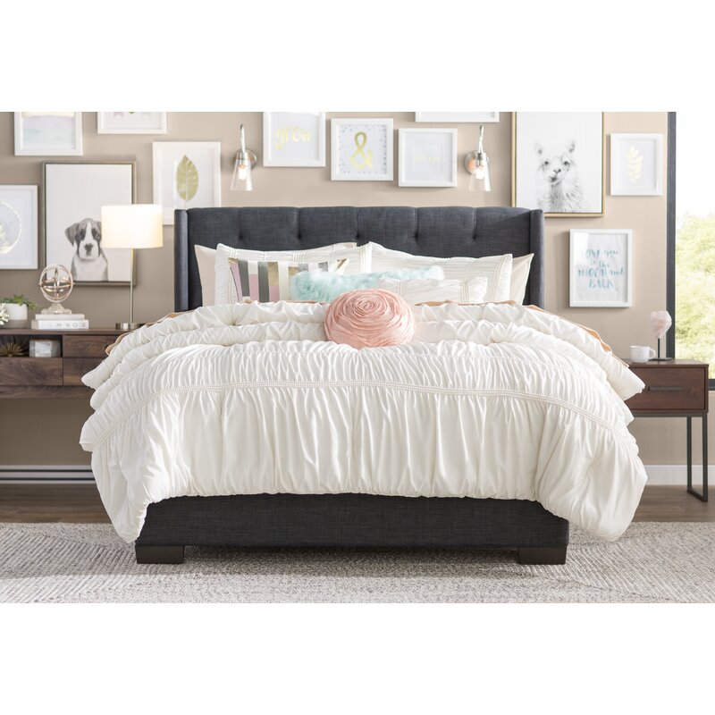 Doucet Wingback Upholstered Platform Bed