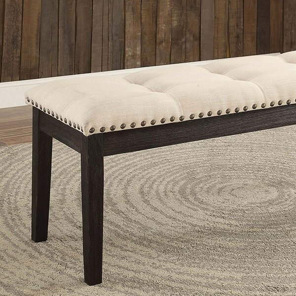 Carstens Wood Upholstered Bench by Charlton Home