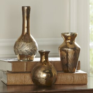 Barros Golden Mercury Gl Vases Set Of 3