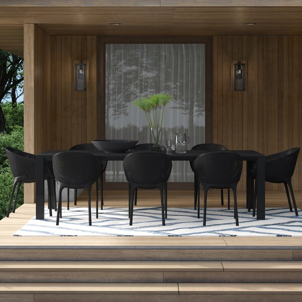 Curnutt 9 Piece Dining Set by Mercury Row