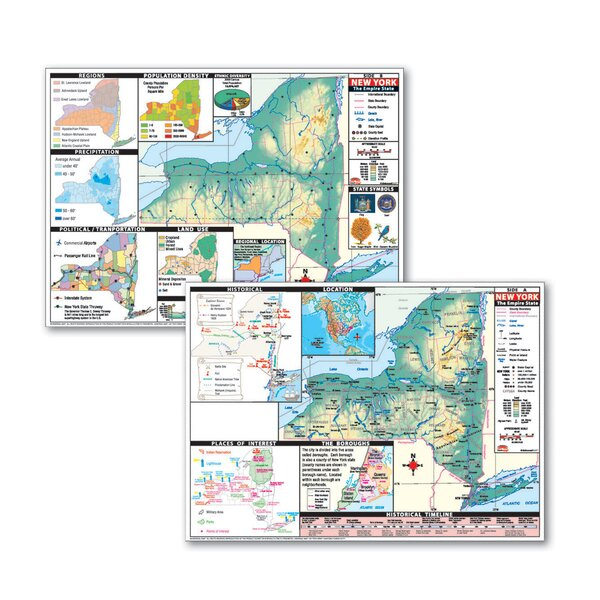 Thematic Deskpad Map - New York by Universal Map