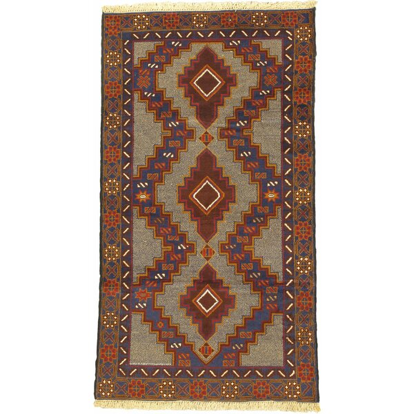 One-of-a-Kind Mcdorman Hand-Knotted Wool Brown/Beige Area Rug by Bloomsbury Market