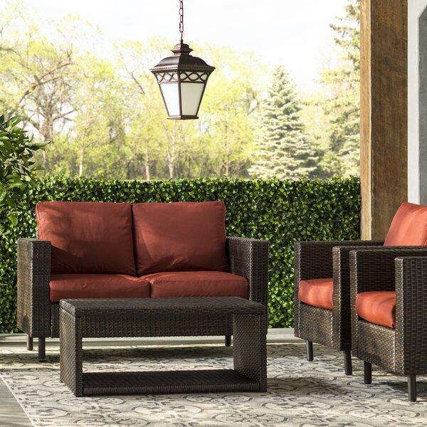 Suwanee 4 Piece Rattan Sofa Seating Group with Cushions by Ivy Bronx