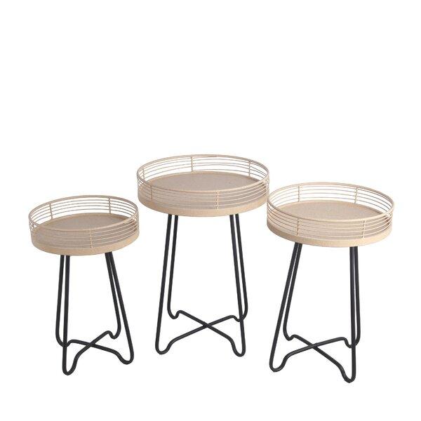 Arnsten 3 Piece Metal Side Table Set by Gracie Oaks