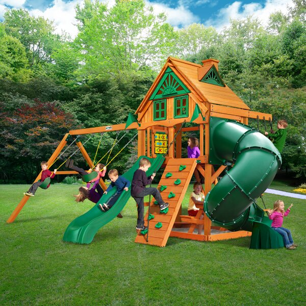 Mountaineer Treehouse Swing Set by Gorilla Playsets