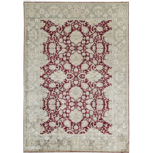 One-of-a-Kind Shamas Hand-Knotted Red 9'8 x 13'9 Wool Area Rug