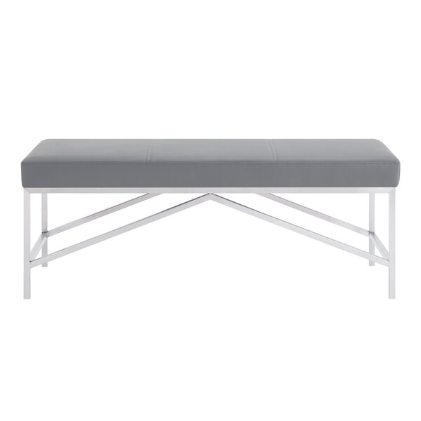 Alyssa Faux Leather Bench by Armen Living