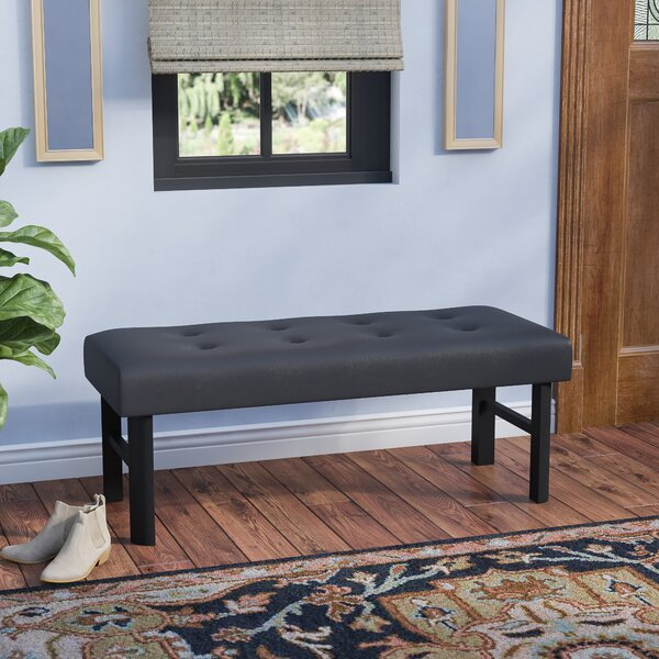 Fenster Faux Leather Bench by Winston Porter