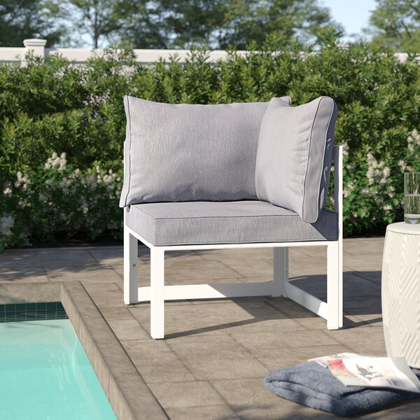 Annemarie Corner Outdoor Patio Armchair with Cushion by Modern Rustic Interiors