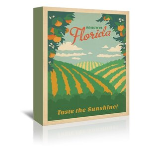 Florida Vintage Advertisement on Wrapped Canvas by East Urban Home