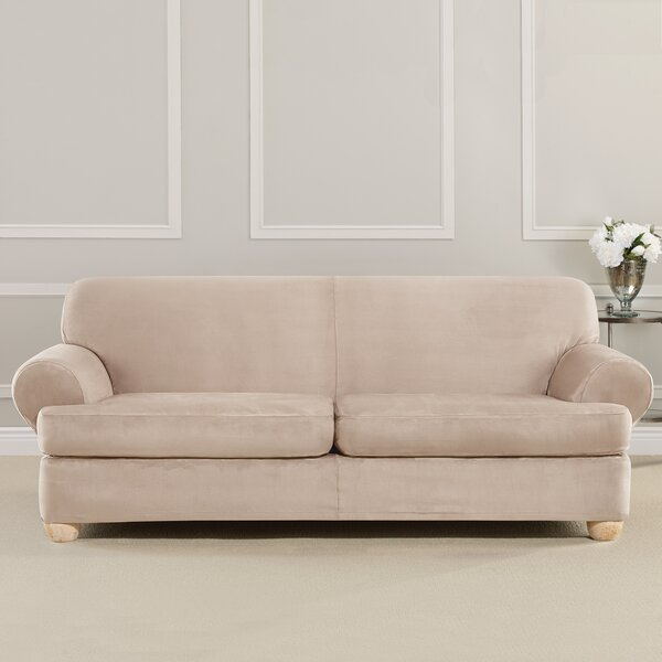 Ultimate Heavyweight Stretch Suede T-Cushion Sofa Slipcover by Sure Fit