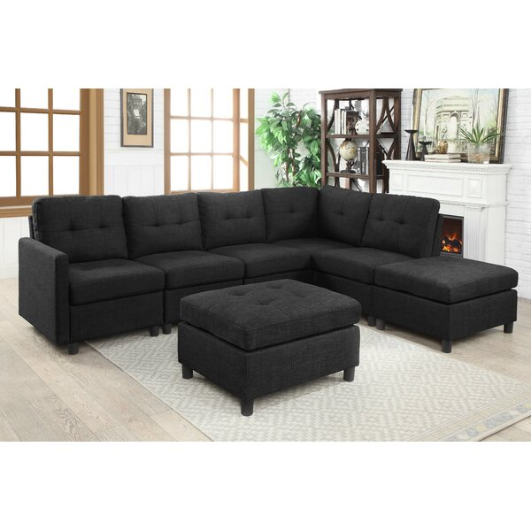 Wetherby Modular Sectional with Ottoman by Ebern Designs