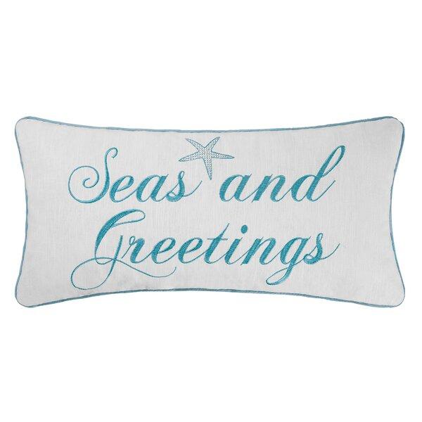 Seasand Greetings Lumbar Pillow by Beachcrest Home