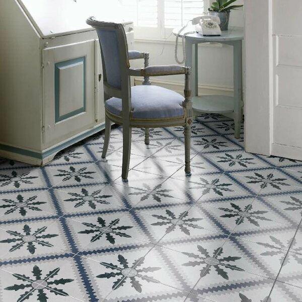 Conceptum 9.75 x 9.75 Porcelain Field Tile in Blue/Beige by EliteTile