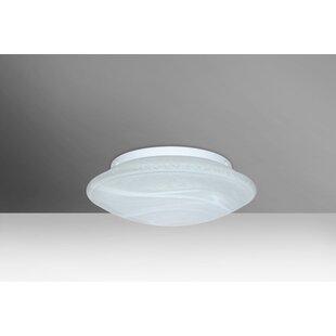 Read Reviews Sola 1-Light Outdoor Flush Mount By Besa Lighting