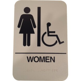 Vintage Restroom Sign Wayfair - Handicap bathroom sign