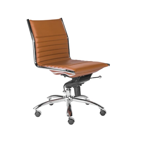 Westernport Armless Low Back Bungee Office Chair by Wade Logan