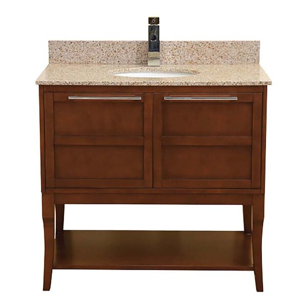 Aura 37 Single Freestanding Vanity Set by DECOLAV