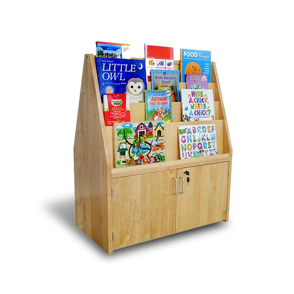 Double Sided Book Display with Doors by A+ Child Supply