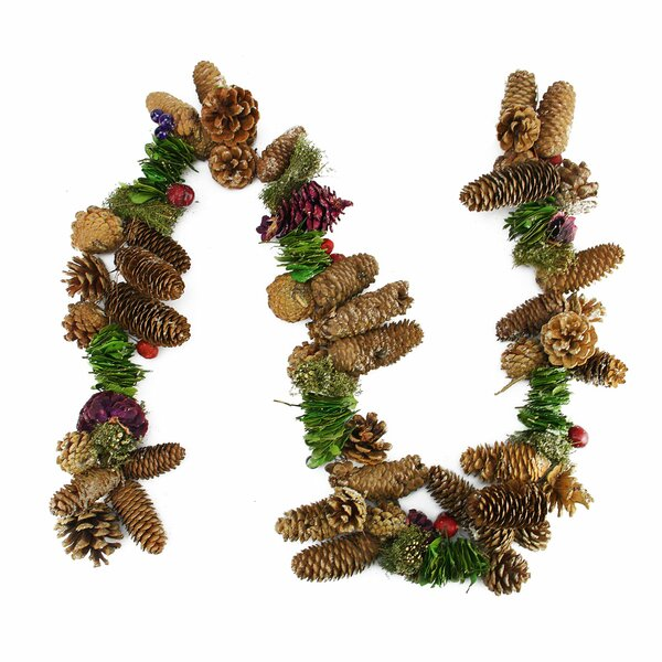 Pine Cone Twig and Berry Artificial Christmas Garland by Northlight Seasonal