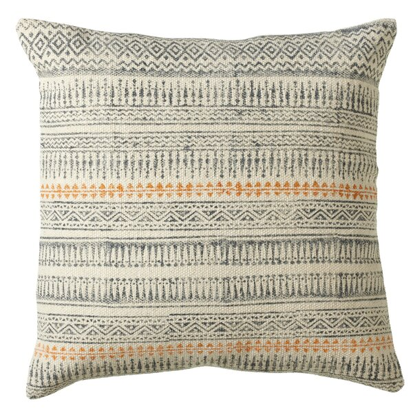 Pender Block Print Cotton Throw Pillow by Union Rustic