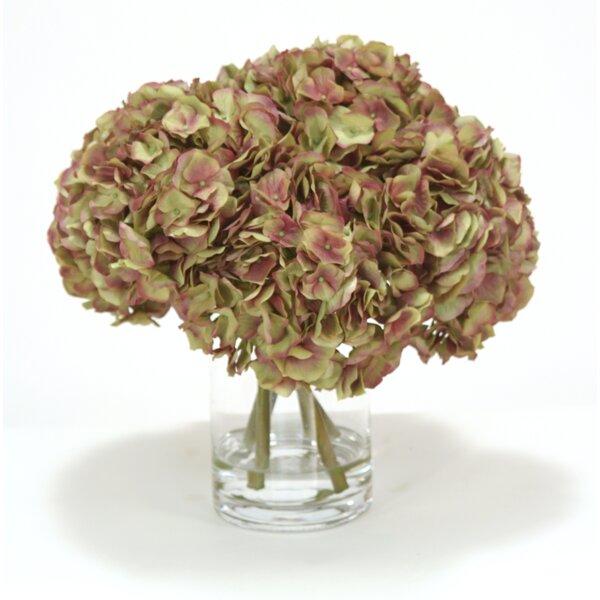 Hydrangeas in Cylinder Vase by Distinctive Designs