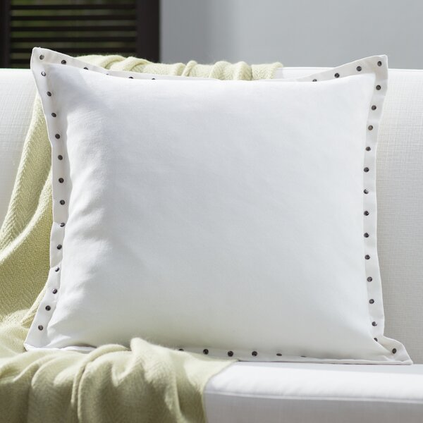 Dixmoor Stud Trim Throw Pillow by Red Barrel Studio