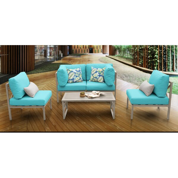 Carlisle 5 Piece Sofa Seating Group with Cushions by TK Classics