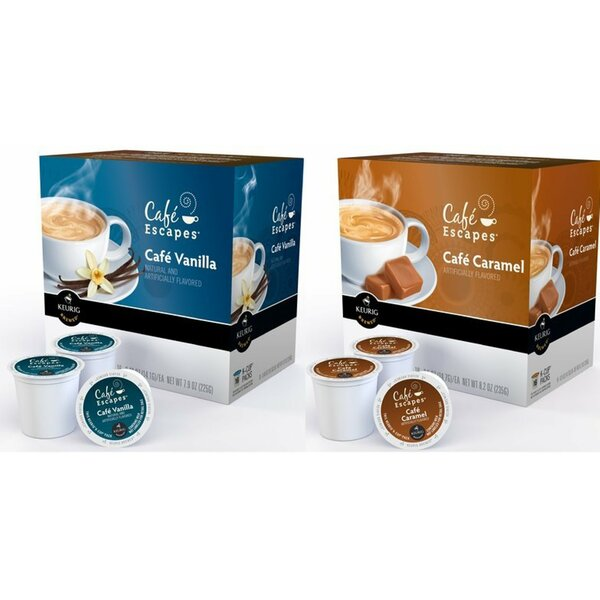 Cafe Escapes K-Cup Variety Bundle (32 Count) by Ke