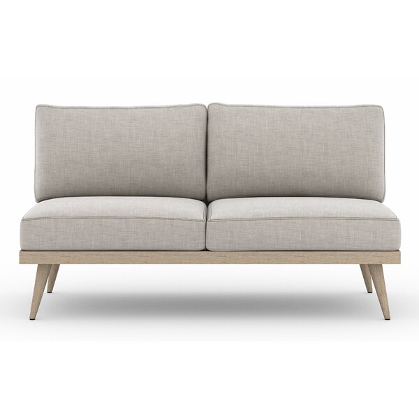 Franko Tilly Teak Loveseat with Cushions by Bungalow Rose Bungalow Rose