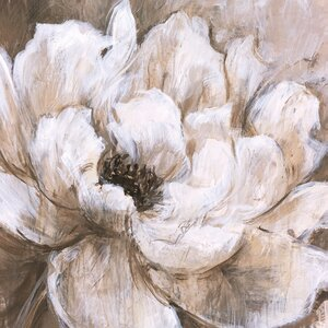 'Peonies Blanche II' Painting Print on Wrapped Canvas by Three Posts