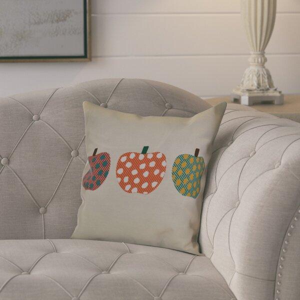 Ames 3 Little Pumpkins Geometric Outdoor Throw Pillow by August Grove