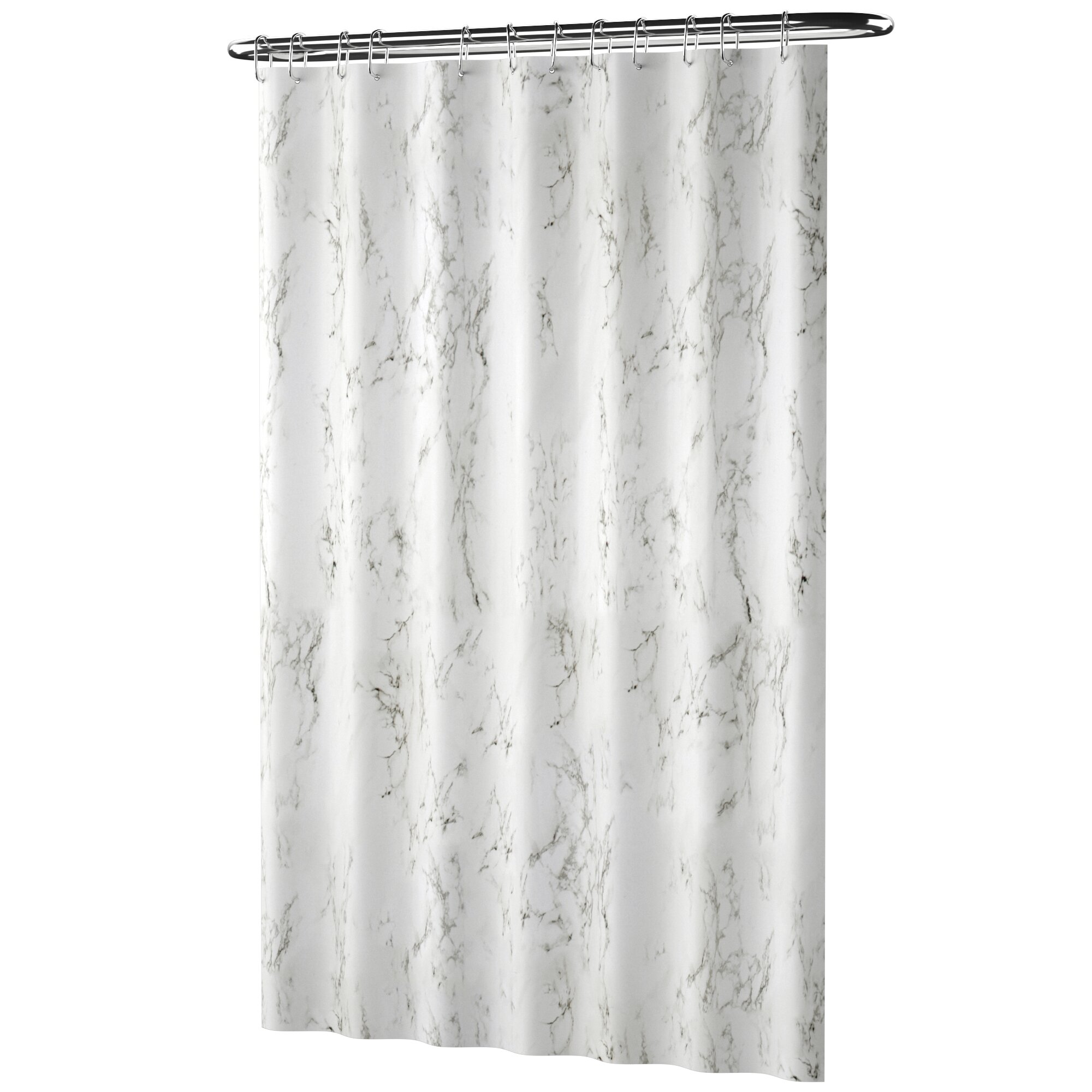 Black Marble Ink Texture Waves Background Shower Curtain Set Waterproof Fabric