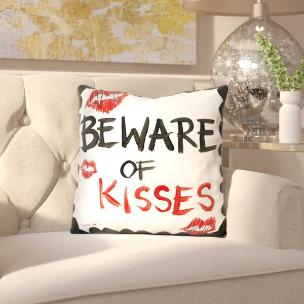 Chantelle Beware of Kisses Throw Pillow by Mercer41